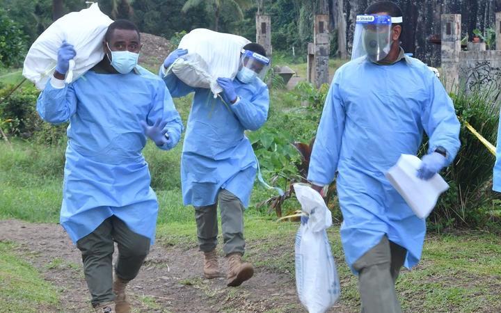 Health workers in Fiji