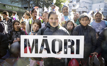 04072016 Photo: Rebekah Parsons-King. Maori language week kicks off with a parade from Wellington Train Station to Te Papa. 4000+ people paraded through wellington to promote Te Reo.