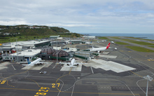 Wellington airport runway.