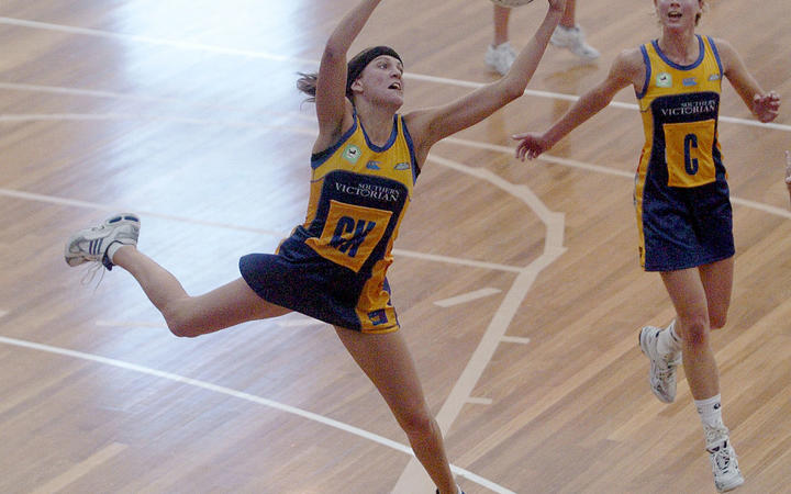 Anna Harrison playing for the Otago Rebels in 2002.
