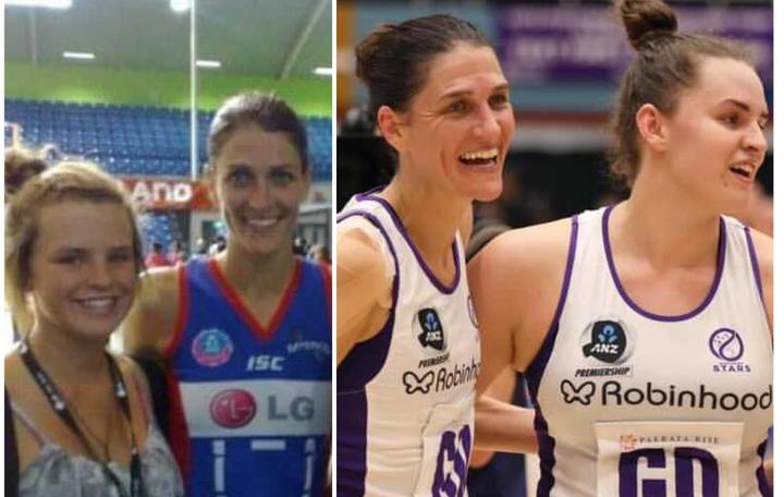 Ten years ago young fan Elle Temu had a photo with her idol Anna Harrison - now they play together.