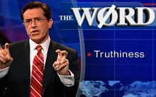 US comedian Stephen Colbert introducing his now-famous concept - 'Truthiness'