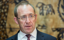 Andrew Little talks to media about Labour's new emergency housing package, at Monte Cecilia Housing Trust. 7 July 2016.