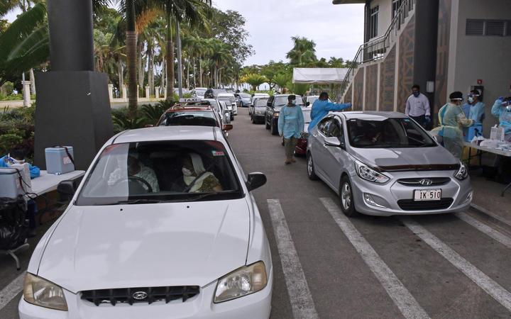 The Covid-19 Drive-Through Vaccination Centre in Suva.