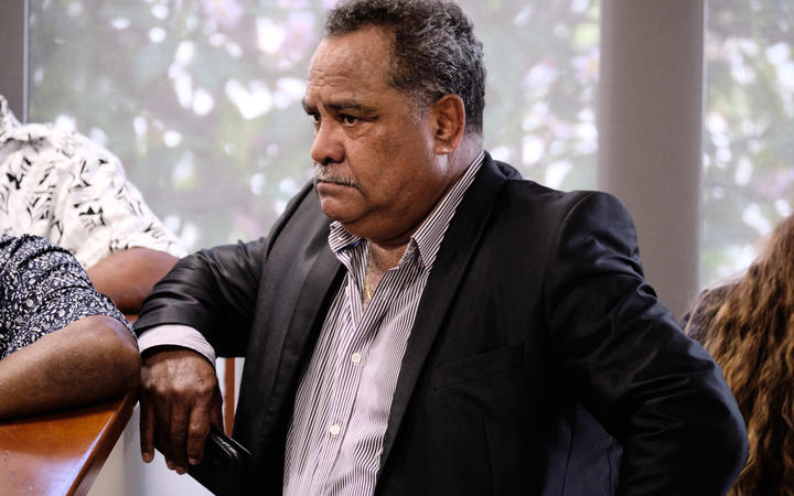 Samuel Hnepeune, head of the UC - FLNKS list, nationalists and Oceanian Awakening