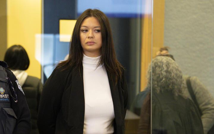 Natalie Bracken on trial in the Auckland High Court.
