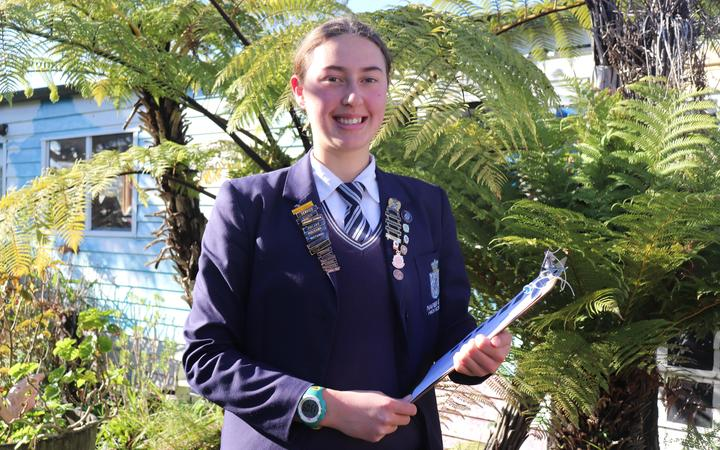 Amelia Otto, 16, got the thoughts of 1,000 people, mostly high-school students in a survey on the possible closure of the National Aquarium in Napier.