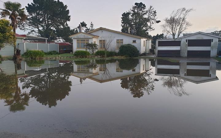 Flood waters cover a section in Westport.
