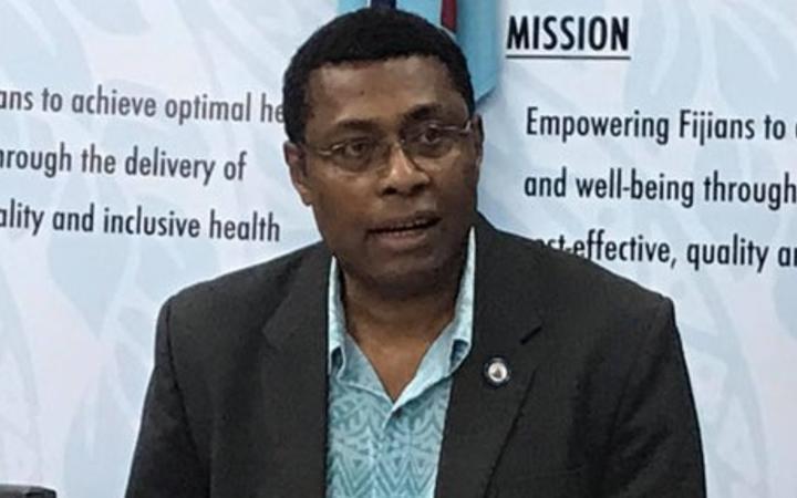 Fiji's Chief Medical Adviser Jemesa Tudravu