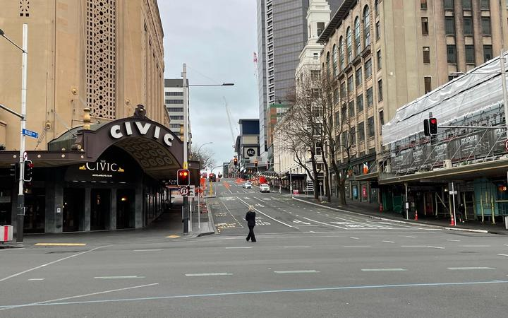 Downtown Auckland today.