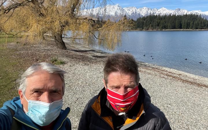 Gisborne doctors, consultant respiratory physician Dr Peter Brown, left, and consultant cardiologist Dr Tim Roberts, will fly back to Tairāwhiti on Tuesday morning.