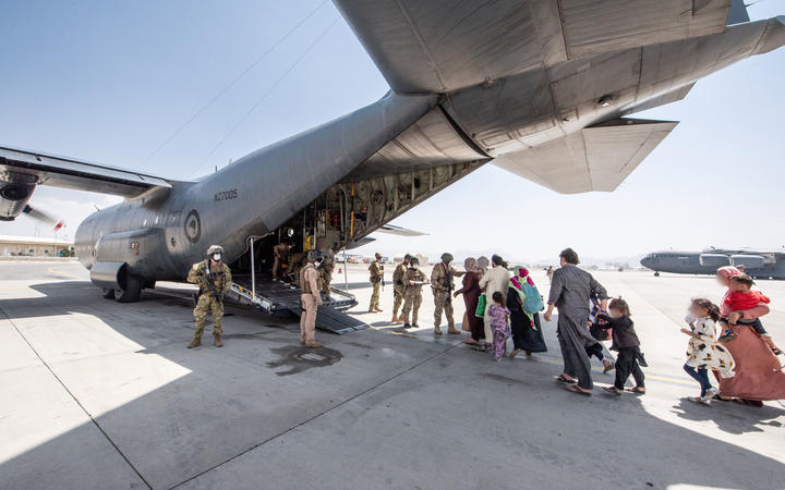 An RNZAF C130 landed in Kabul Afghanistan today and safely evacuated a number of New Zealanders and Australians.