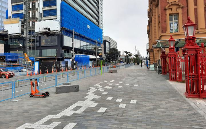 Central Auckland on the afternoon of August 27.