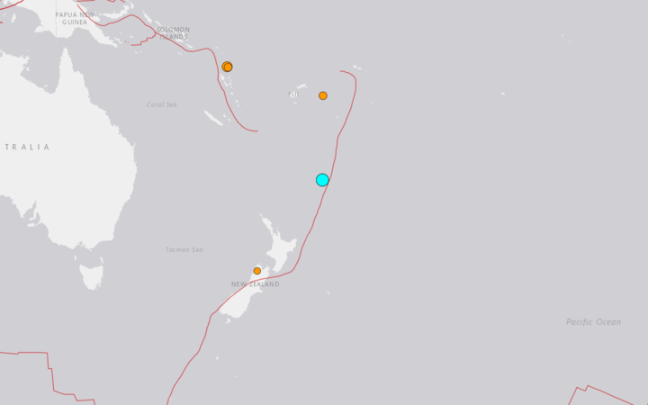 The US Geological Survey said the quake had a magnitude of 6.3 and a depth of 10 km.