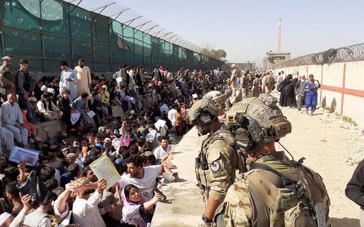 NZDF personnel around Hamid Karzai International Airport.