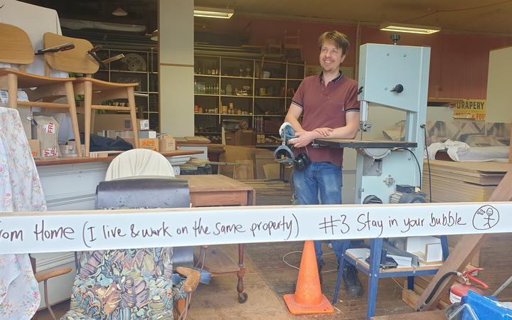 Furniture maker Ben Lilly at his Akuto workshop.