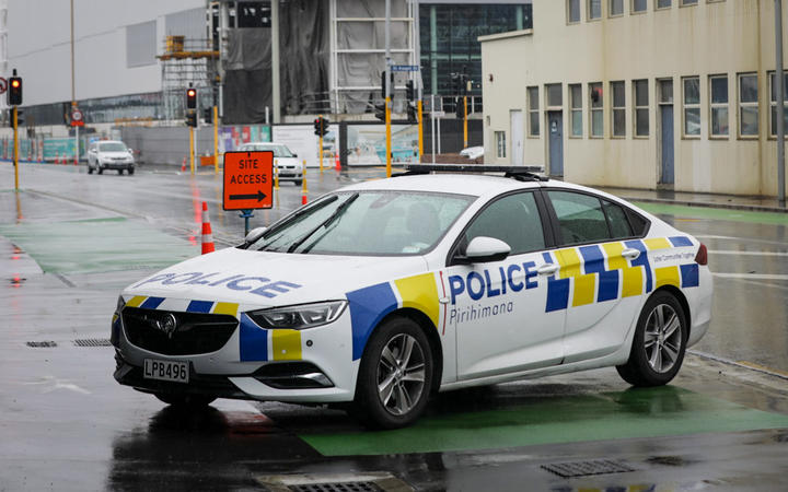 Following a police vehicle alert near Christchurch Hospital.
