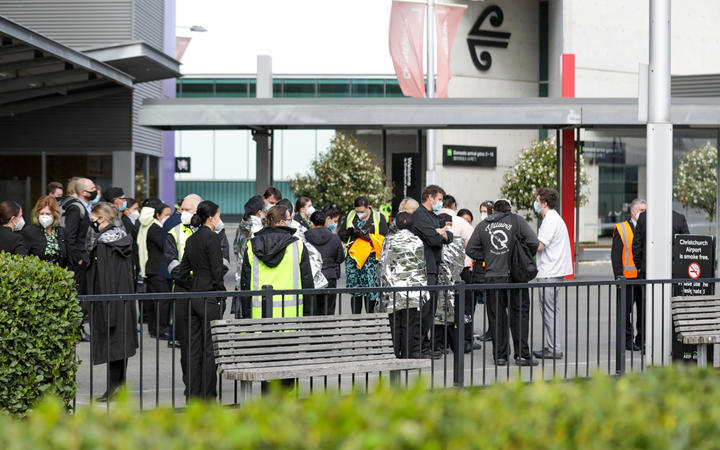 The Christchurch Airport Terminal was evacuated, while aviation security and police dealt with the incident.