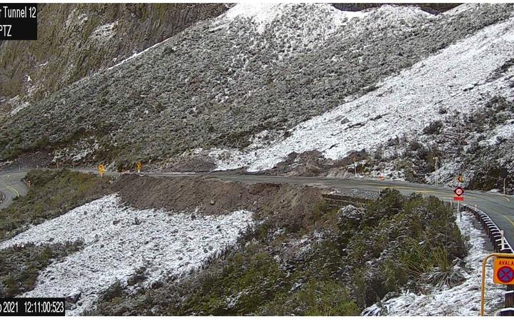 The highway is now open after being closed for several days due to the high risk of avalanches.