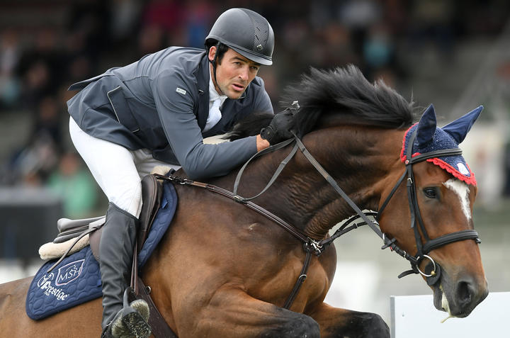 William Willis rides Dollar Roll MS and wins the Norwood Gold Cup during 2017 Horse of the Year on March 8, 2017 in Hastings, New Zealand.