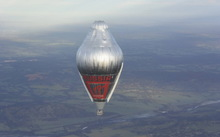 The Russian hot air balloon successfully took off from Northam airport in Western Australia on 12 July.