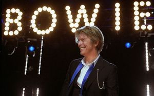 David Bowie on stage in 2002.