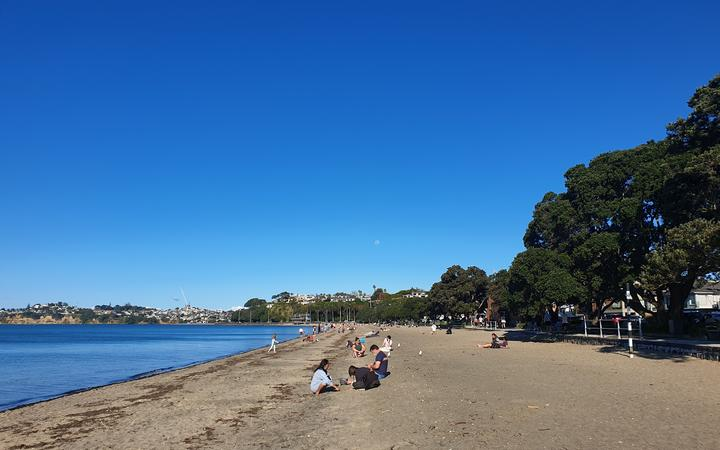 People out and about at Kohi beach.