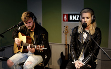 15072016. Photo: RNZ / Rebekah Parsons-King. Broods live on Afternoons with Jesse Mulligan for NZ Live.