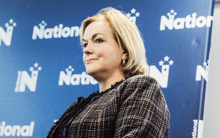 National Party leader Judith Collins presenting the party's plan for reopening New Zealand, Wellington, 29 September 2021.