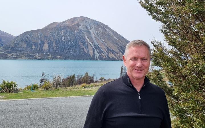 The Mayor of Waitaki, Gary Kircher, at Lake Ōhau