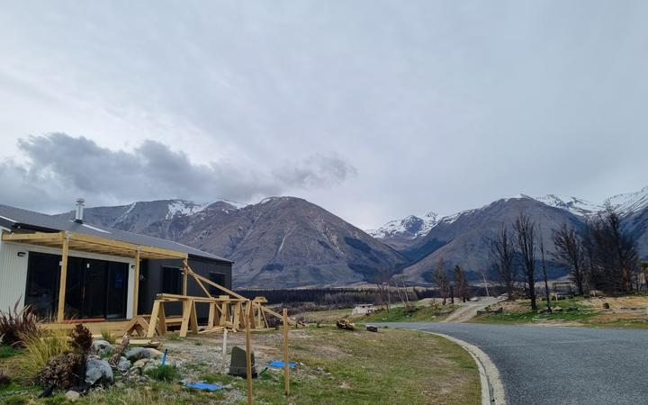 Rebuild a year after the fire that swept through the alpine village of Lake Ōhau.