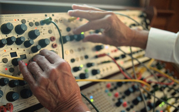 Suzanne Ciani at work on a Buchla 200e synthesiser.