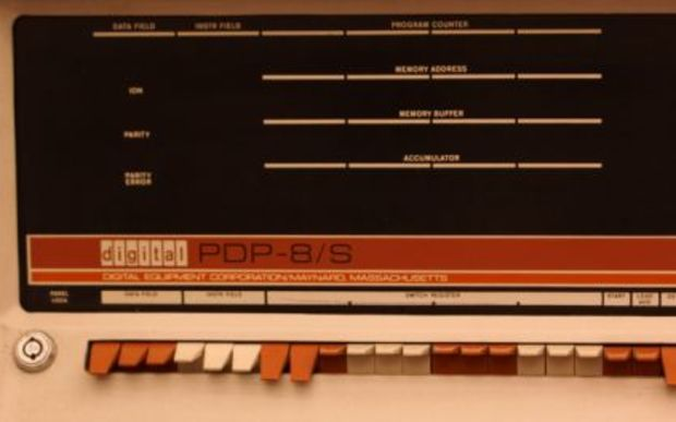 PDP 8/S computer similar to that used by Peter Zinovieff at EMS.