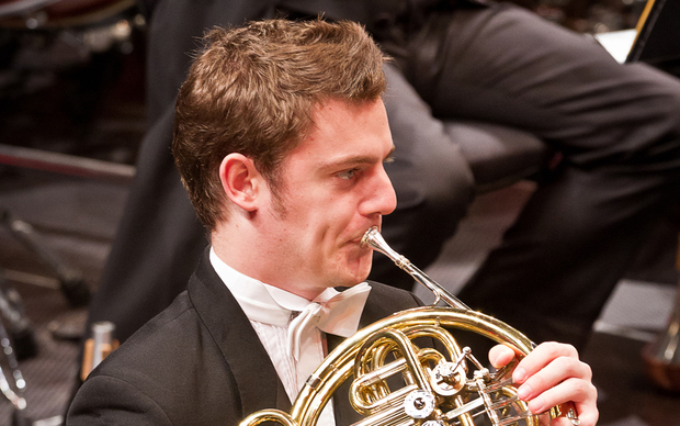 NZSO principal horn player Sam Jacobs