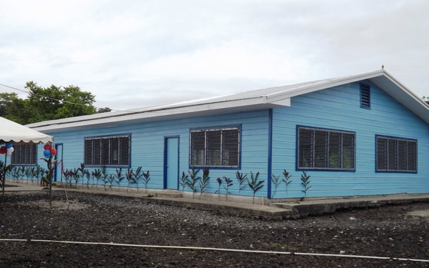 Samoa village disaster shelter