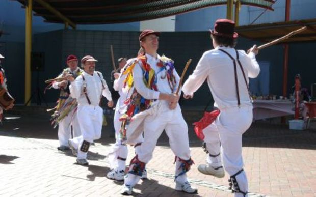 Men with sticks take to Morris dancing