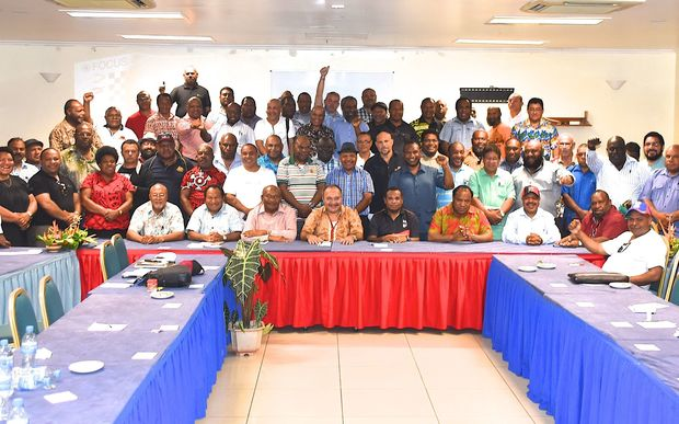 The PNG Government caucus meeting at Alotau in Milne Bay, July 2016