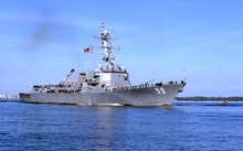 US Navy's guided-missile destroyer USS Farragut.