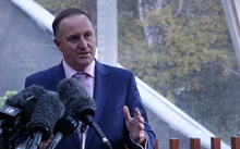 John Key at the announcement today.