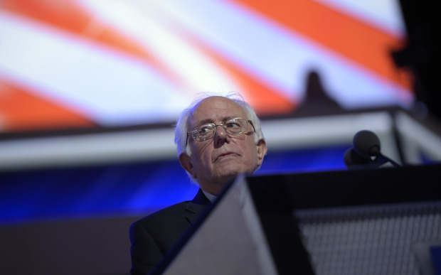 Boos erupted as Bernie Sanders called on his supporters to back Hillary Clinton, at the Democrat National Convention.