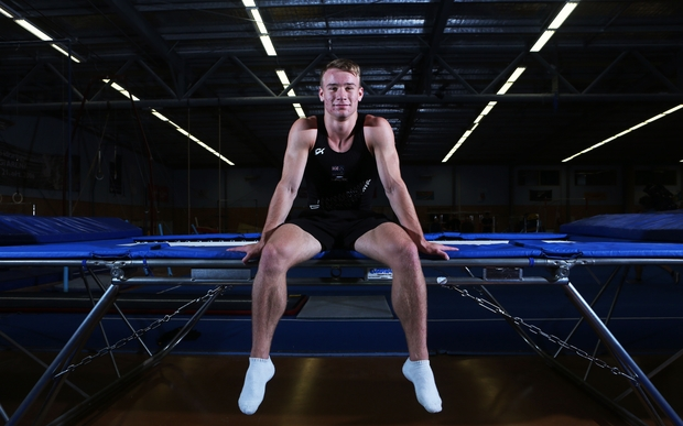 Dylan Schmidt, Trampoline, Rio 2016 Olympic Games, New Zealand Gymnastics. 11 May 2016.
