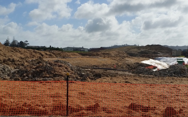 Land development underway at the Huapai Triangle, in Kumeu, West Auckland.