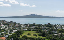 An image of Auckland looking out at Rangitoto Island