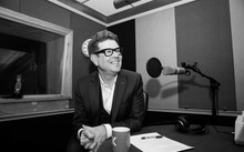 John Campbell in the RNZ Auckland studio recording The Mixtape.