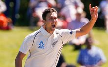 New Zealand's Trent Boult appeals for a wicket.