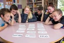 Home > About Massey > News > Is my chair real, and other philosophical quandaries4Hiwinui School's weekly philosophy class with Year Seven and Eight pupils (from left) Liam Craw, Jack Jones, Anya Weth, Robbie Stewart, Hannah Chowen and Joshua Hurley.
