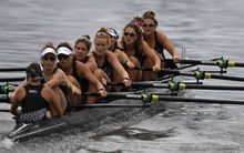New Zealand's women's eight rowers came second in their heat on the third day of Rio.