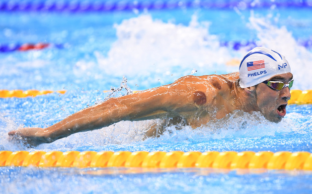 19-times Olympic gold medallist Michael Phelps could be seen sporting cupping marks during the men's 200m butterfly heats.