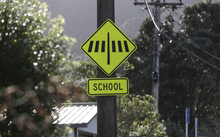 School sign near Ngaio School.