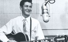Peter Posa at Eldred Stebbing's Saratoga Avenue recording studio, early 1960s